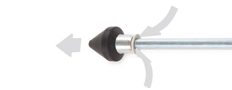 disassemble push-in nozzle by pushing the plastic ring forward