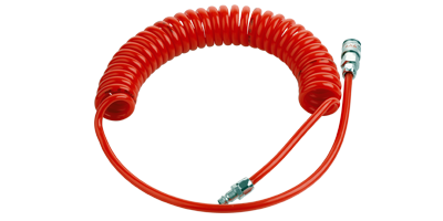 recoil hose with coupling and nipple