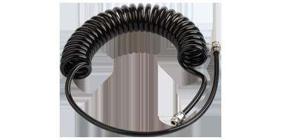 Black PUR recoil hose